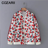 2019 Women Cute Fruit Print Jacket