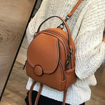 New Designer Fashion Women Leather Backpack