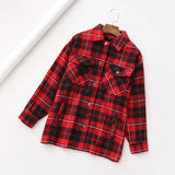 Winter jacket women Khaki green plaid coat