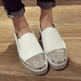 Brand Patchwork Espadrilles Shoes