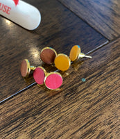Australian Leather Stud Earrings