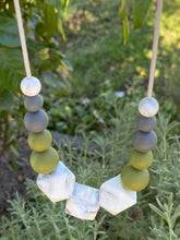 Load image into Gallery viewer, The Penny Eucalypt - Silicone Teething Necklace