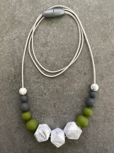 The Penny Eucalypt - Silicone Teething Necklace