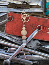 Load image into Gallery viewer, Rose Gold  - Silicone and timber key chain