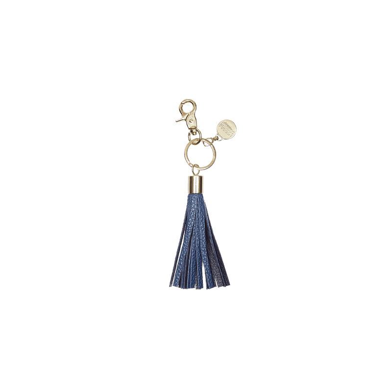Dual Tone Blue - tassel key ring