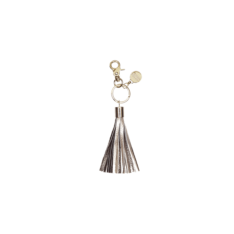 Gold/Bronze - tassel key ring