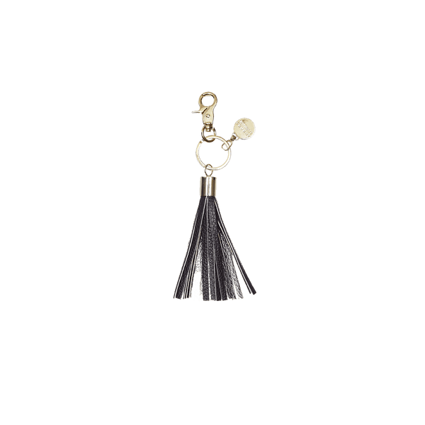 Black/Silver - tassel key ring