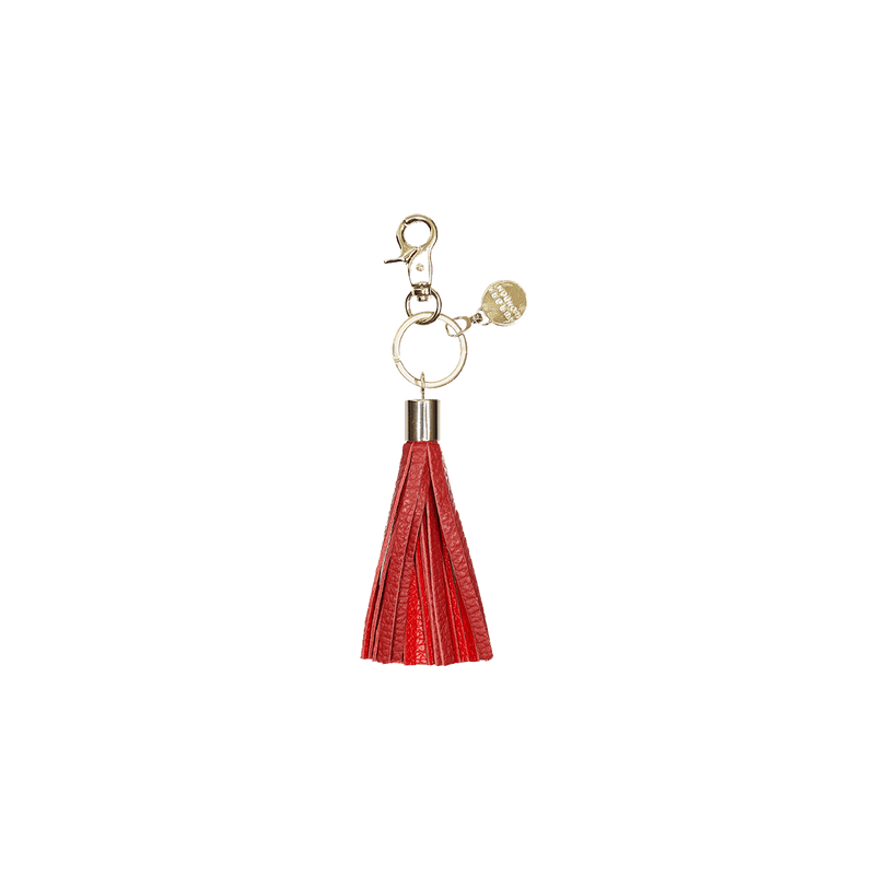 Red/Dark Red - tassel key ring