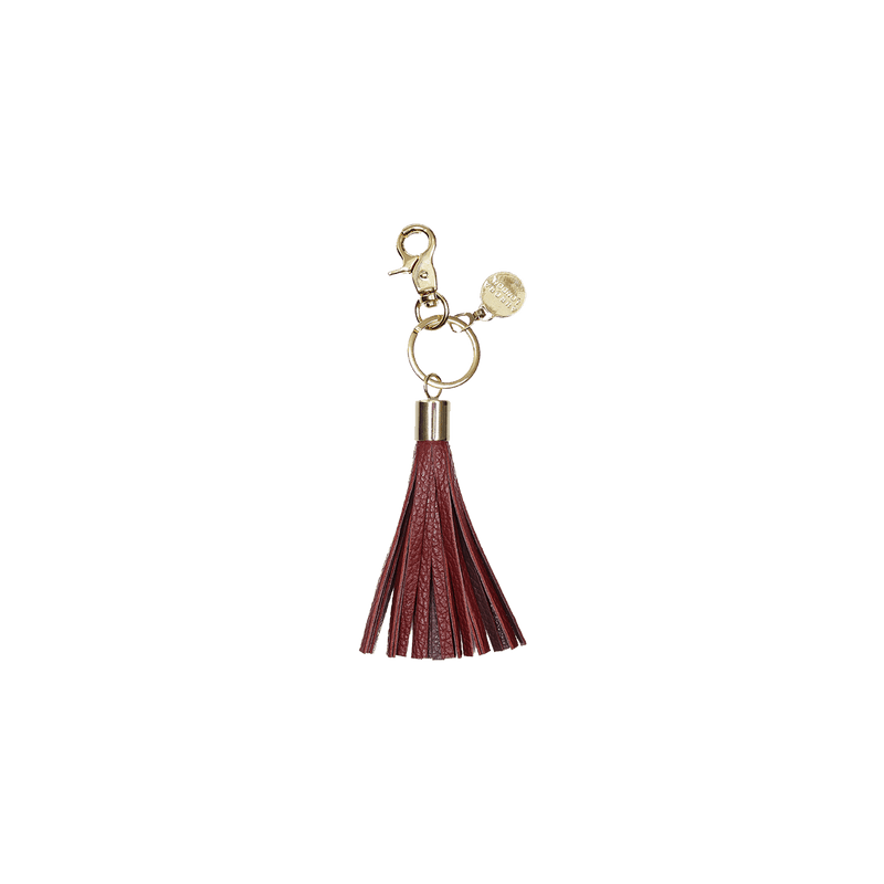 Dual Tone Burgundy - tassel key ring