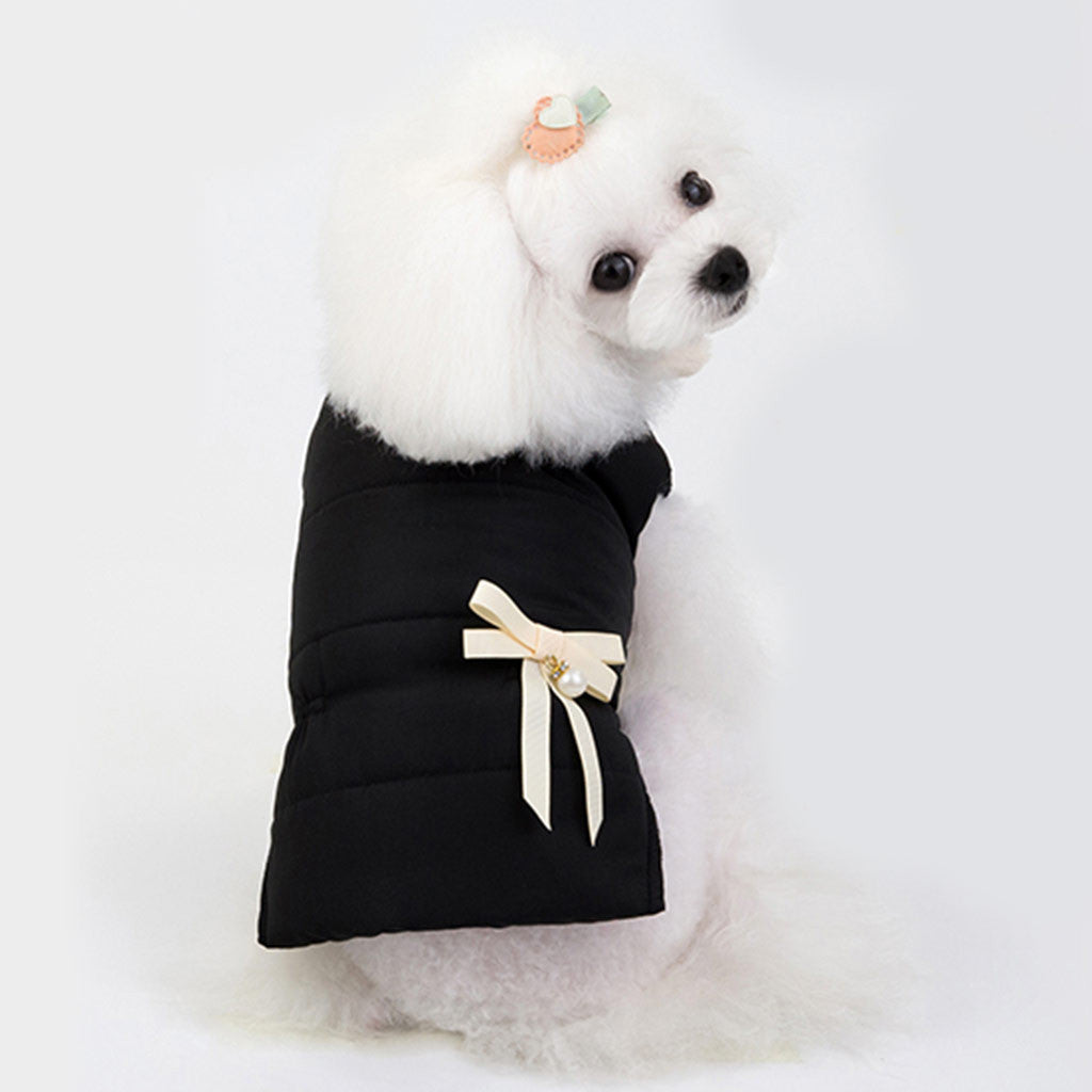 Puppy Bow Sweatshirt Warm Coat
