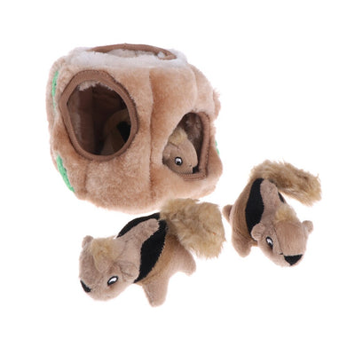 Pet Toys Squeaky Three Squirrel