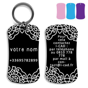 Lost and find dog tag personalized pet label cat ID tag style 01