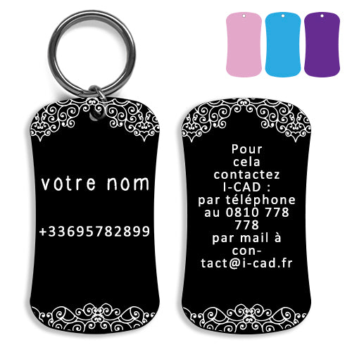 Lost and found dog tag personalized pet label cat ID tag style 08