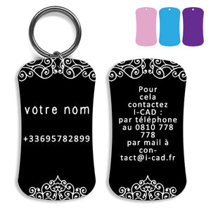 Lost and found dog tag personalized pet label cat ID tag style 04
