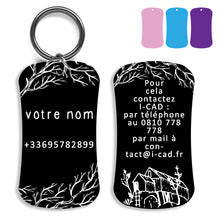 Load image into Gallery viewer, Lost and found dog tag personalized pet label cat ID tag style 07