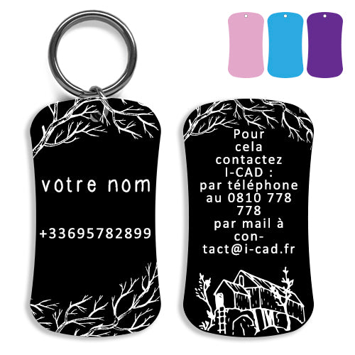 Lost and found dog tag personalized pet label cat ID tag style 07