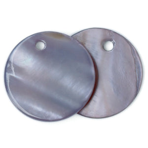 20mm Round shell hang tag labels GREY 100 pcs