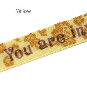 10mm satin labels personalized floral ribbons with custom text printing 100 pcs