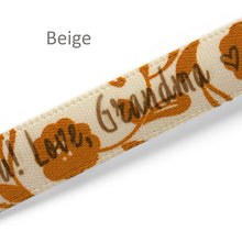Load image into Gallery viewer, 10mm satin labels personalized floral ribbons with custom text printing 100 pcs