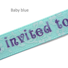 Load image into Gallery viewer, 10mm satin labels personalized floral ribbons with custom text printing