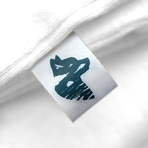 15mm Personalized white satin textile clothing labels 100 pcs