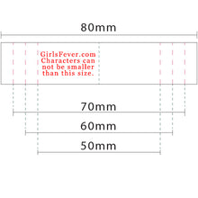 Load image into Gallery viewer, 17mm Personalized white satin textile clothing labels 200 pcs