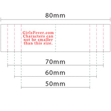 Load image into Gallery viewer, 20mm Personalized white satin textile clothing labels 100 pcs