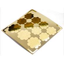 Load image into Gallery viewer, 44pcs Flower motif gold foil stickers / flower pattern stickers / flower symbol stickers / envelope closure stickers
