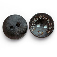 Load image into Gallery viewer, 15mm Personalized round wooden buttons dark brown coating 100 pcs