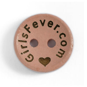 15mm Personalized round wooden mix color buttons with custom text