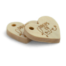 Load image into Gallery viewer, Personalized mini wooden heartshaped wooden hang labels 200 pcs