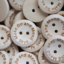 Load image into Gallery viewer, 20mm Personalized round concave wooden buttons 100 pcs