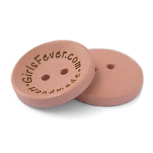 Load image into Gallery viewer, 23mm Personalized round concave wooden buttons blue or pink 100 pcs