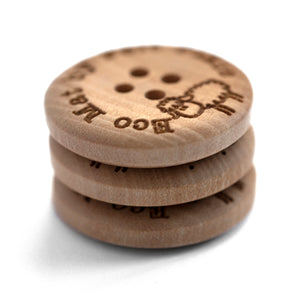 25mm wooden button custom engraving