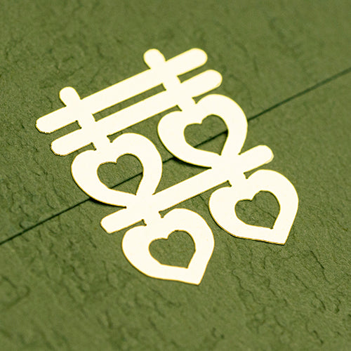DOUBLE HAPPINESS symbol metallic gold foil sticker 囍