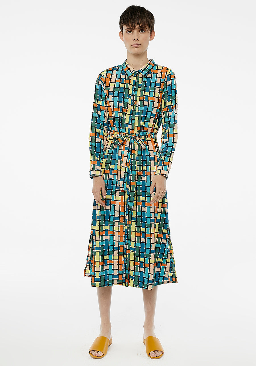 COMPANIA - CHECKED DRESS