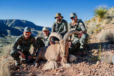 ryan, brother, and team with Aoudad