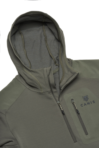 Chamois Fleece Hooded Half-Zip