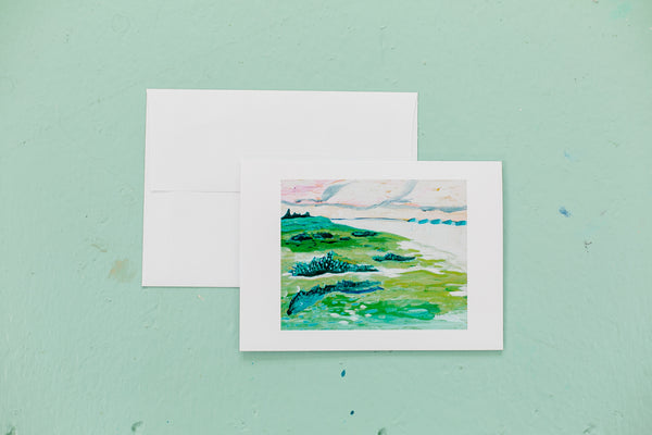 "5x7"" Card Pack (4)- Beach Walk Set"