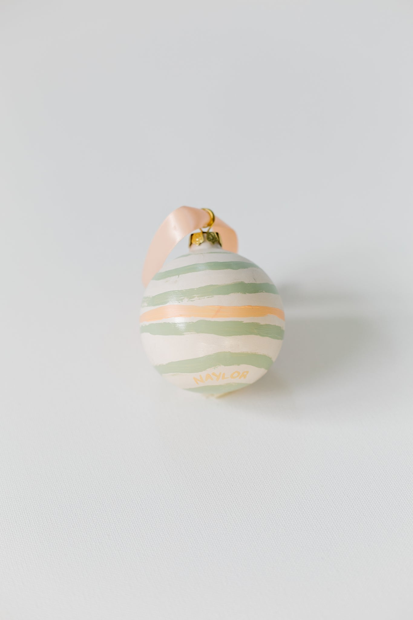 Oatmeal + Honey Stripes Ornament