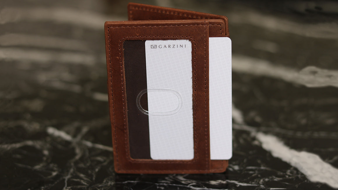 slim cardholder ID window garzini