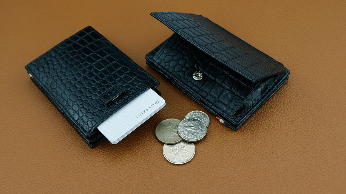 Cavare Magic Coin Wallet Card Sleeve Croco