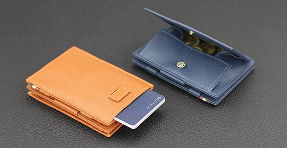 introducing the Garzini Cavare Magic Coin Wallet