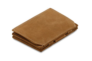 Magic Coin Wallet Garzini Essenziale - Camel Brown - 1