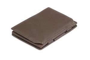 Magic Coin Wallet Garzini Essenziale Nappa - Chocolate Brown - 1