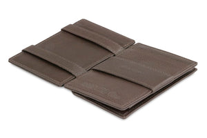 Magic Coin Wallet Garzini Essenziale Nappa - Chocolate Brown - 3