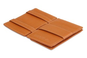 Magic Coin Wallet Garzini Essenziale Nappa - Cognac Brown - 3