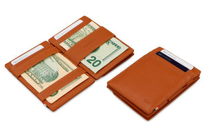 Magic Coin Wallet Garzini Essenziale Nappa - Cognac Brown - 4