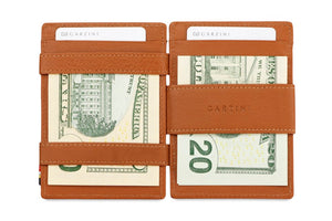 Magic Coin Wallet Garzini Essenziale Nappa - Cognac Brown - 6