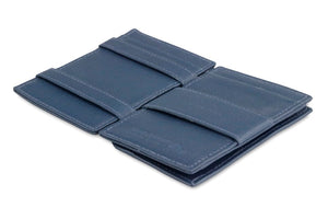 Magic Coin Wallet Garzini Essenziale Nappa - Navy Blue - 3